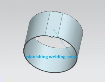 Planishing welding seam