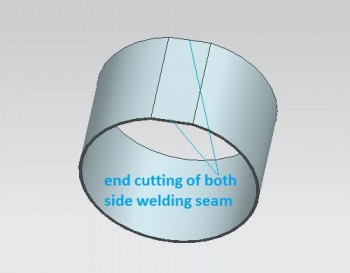 End cutting of welding slag